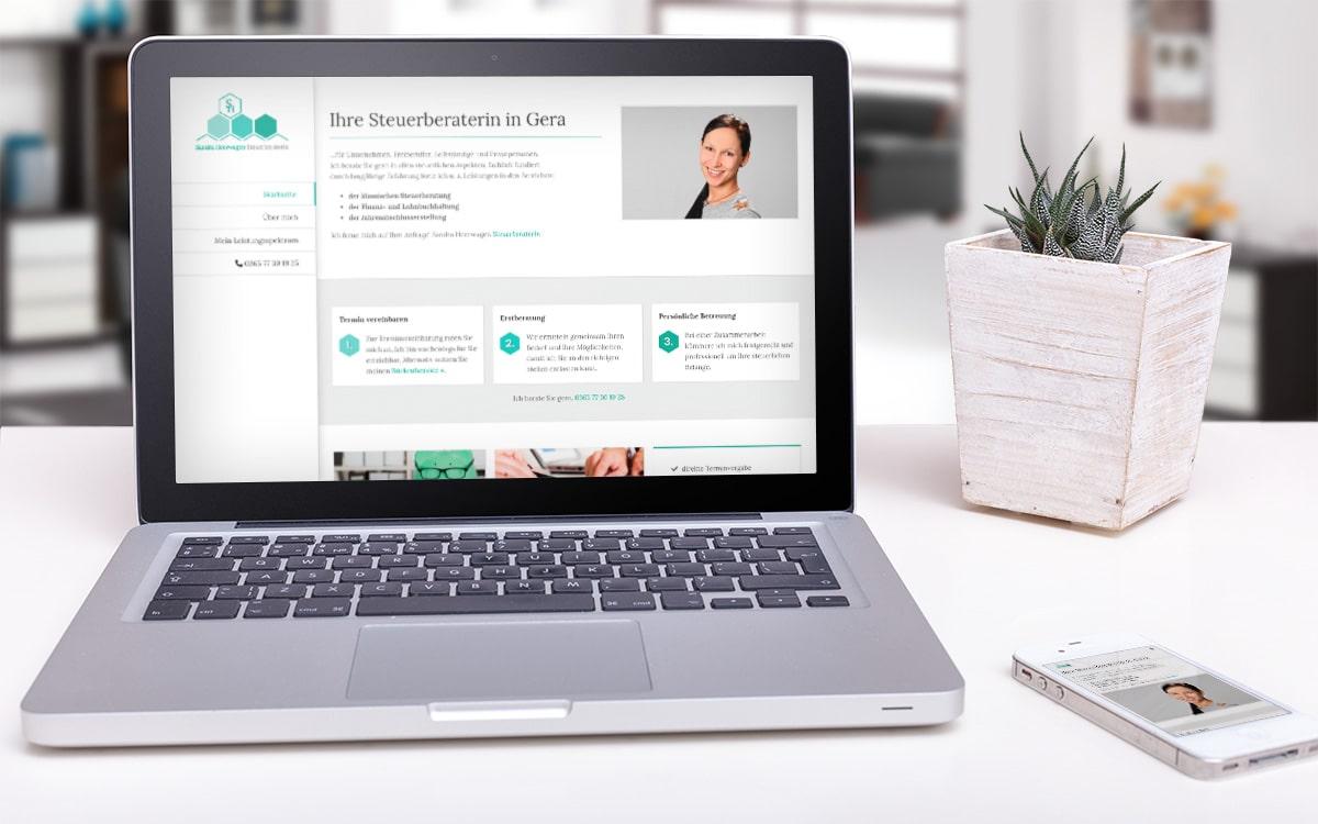 Webdesign Steuerberaterin Sandra Heerwagen