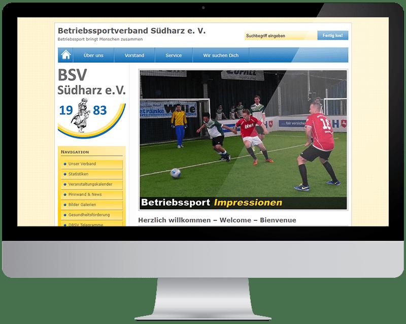 Webdesign BSV Südharz