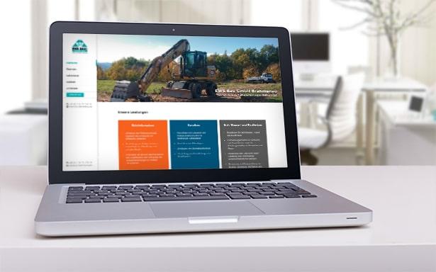 Webdesign EWS Bau Brahmenau GmbH