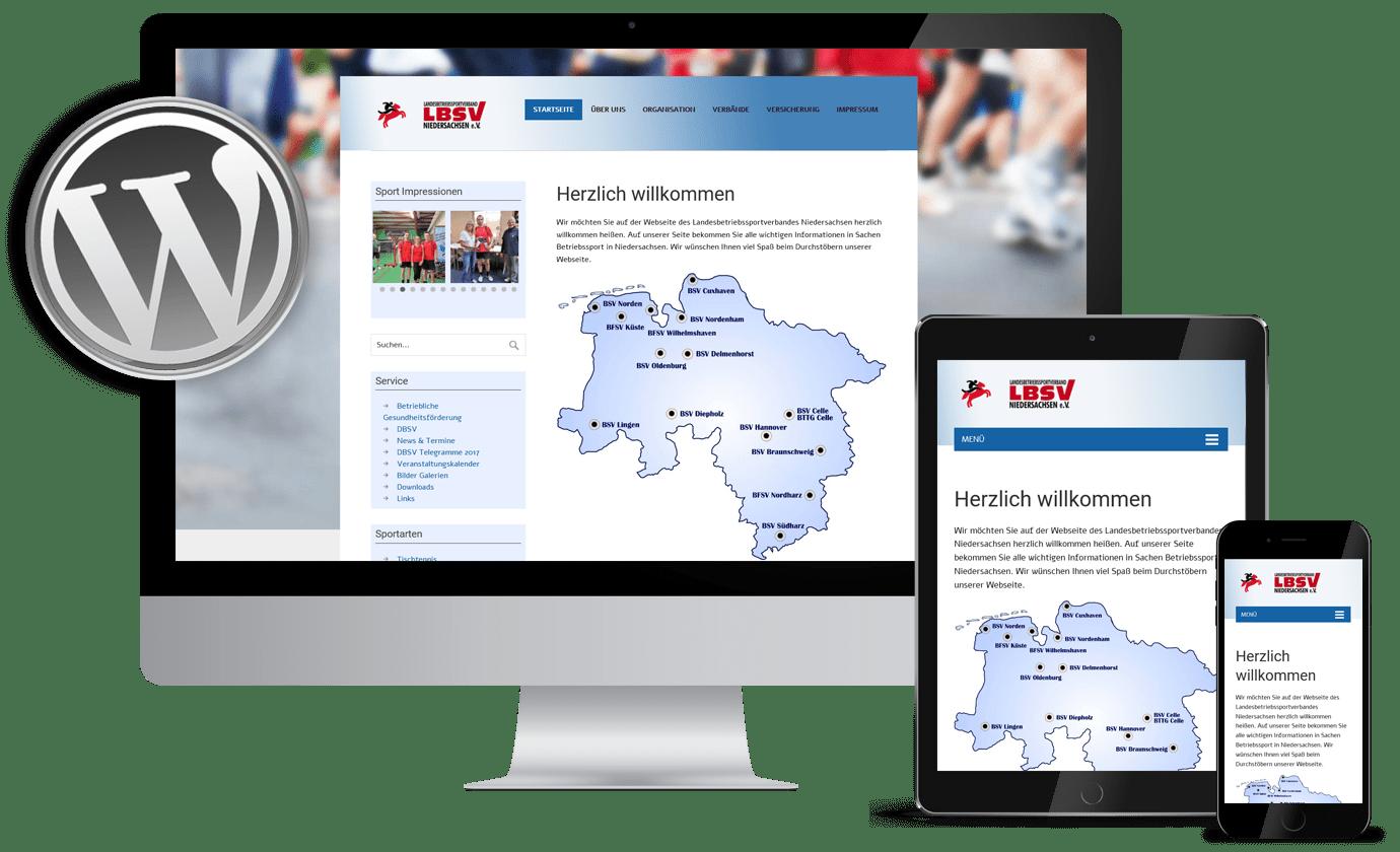 Webdesign Gera Referenzen lbsv-nds.de