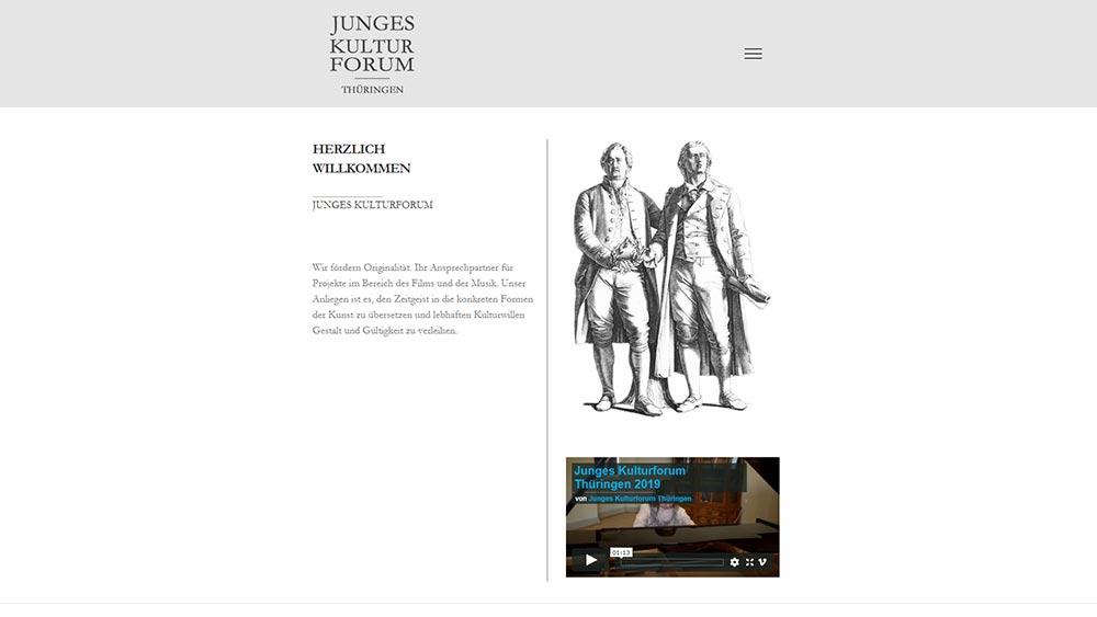 Minimalistisches Webdesign junges-kulturforum.de