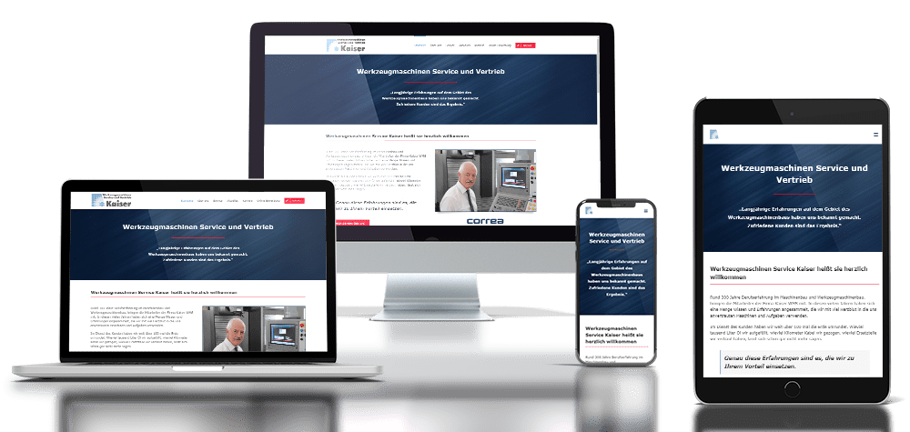 Referenz responsive Webdesign Werkzeugmaschinen Kaiser