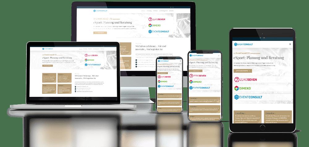 Referenz Responsive Webdesign 07 EvnetConsult UG Gera