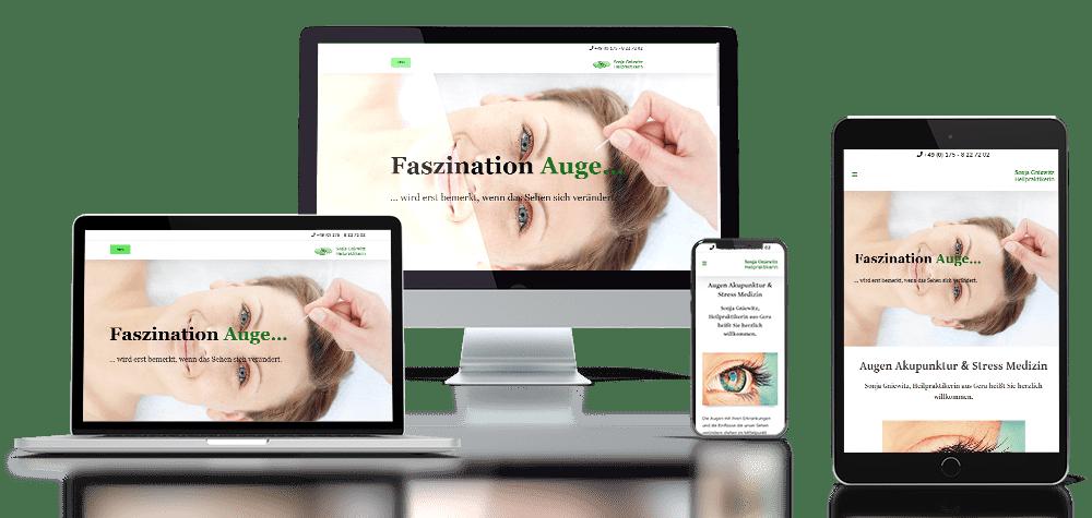 Referenz responsive Webdesign Augenakupunktur Gera