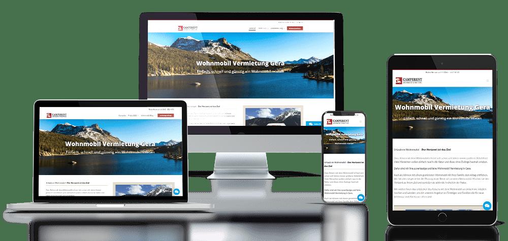 Referenz responsive Webdesign Camperent