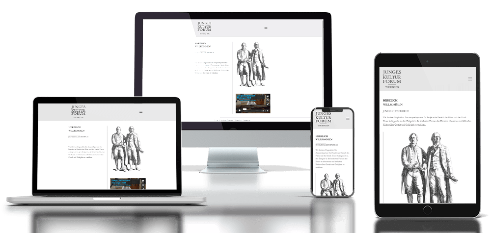 Referenz responsive Webdesign Junges Kulturforum
