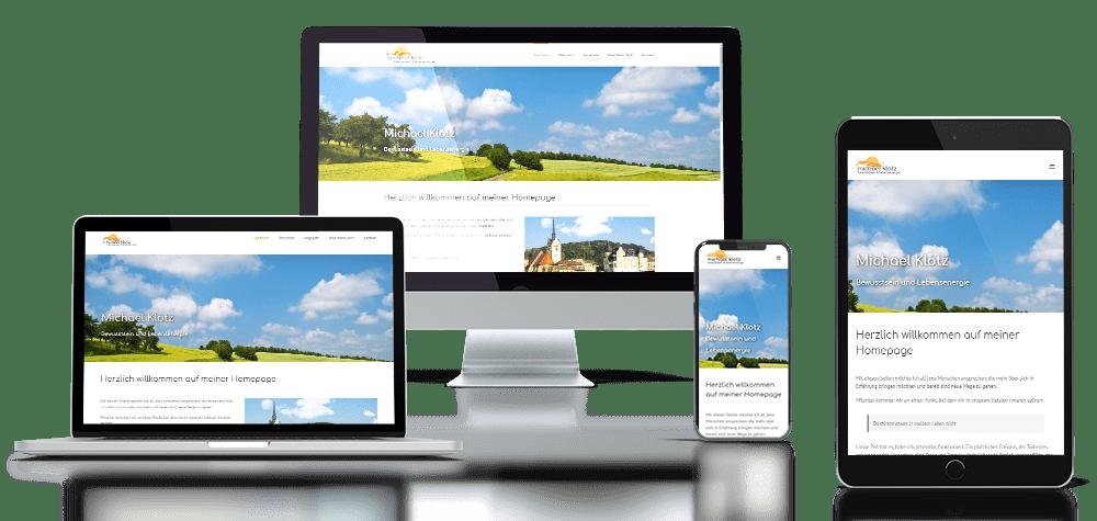 Referenz responsive Webdesign Michael Klotz Verbasysta