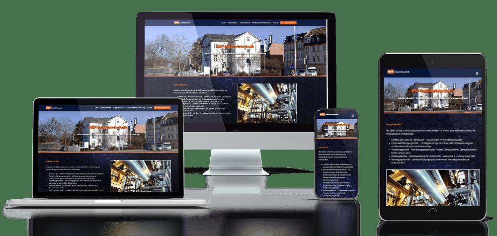 Referenz responsive Webdesign RSF Industrietechnik