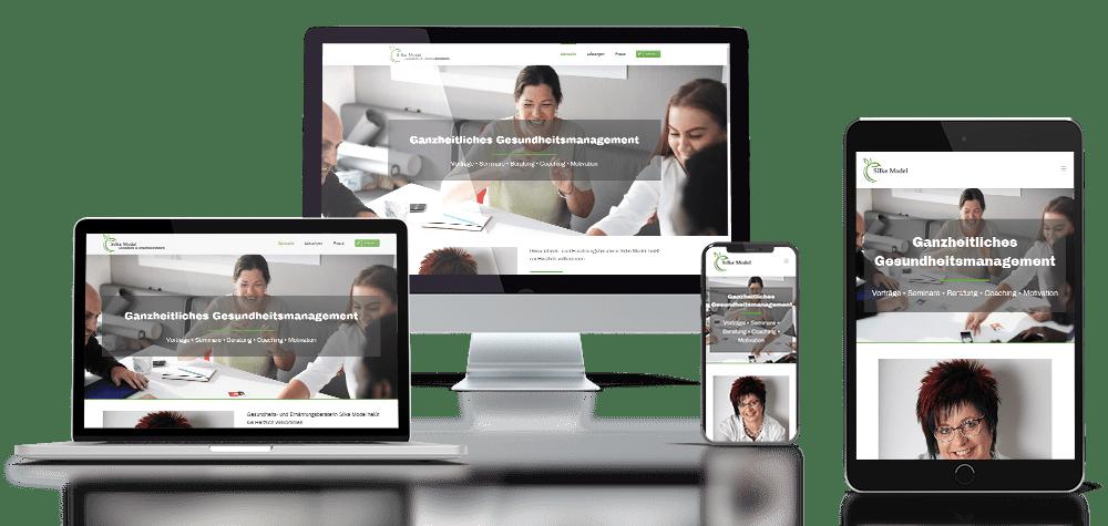 Referenz responsive Webdesign Silke Model