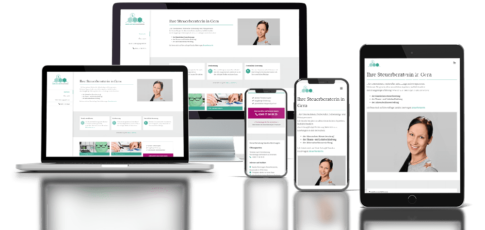 Referenz responsive Webdesign Zahnarztpraxis Leisering