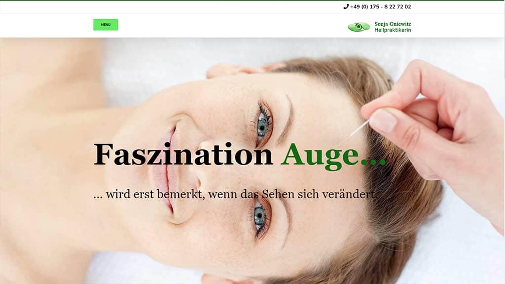 Referenz Webdesign Augenakupunktur Gera