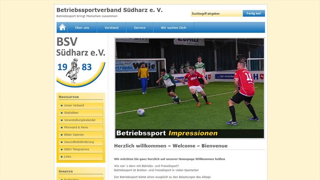 Referenz Webdesign BSV Südharz