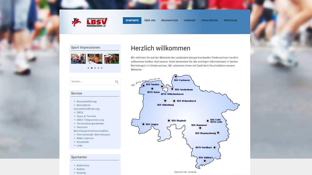 Referenz Webdesign LBSV Niedersachsen