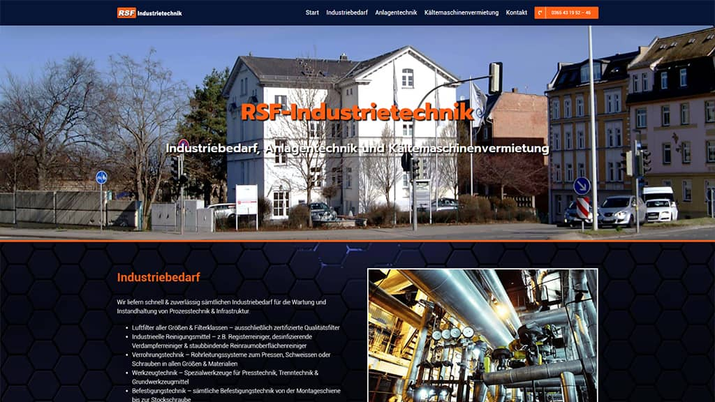 Referenz Webdesign RSF Industrietechnik