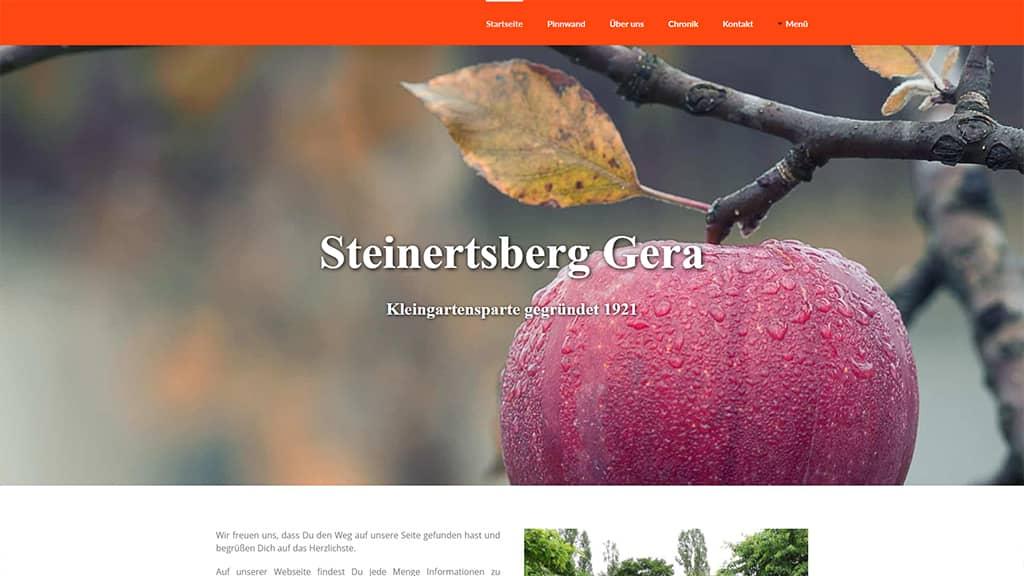 Referenz Webdesign Steinertsberg Gera