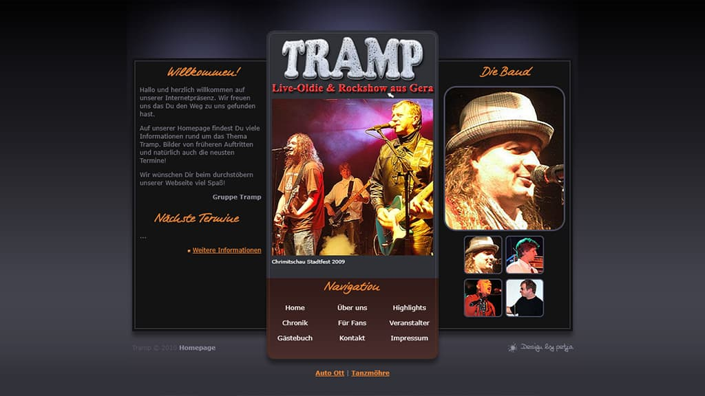 Referenz Webdesign Tramp
