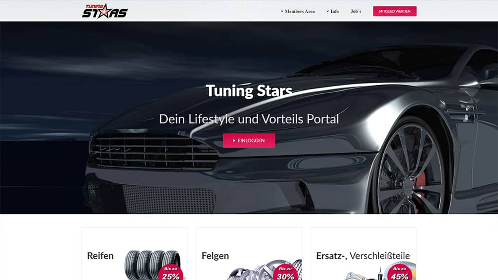 Referenz Webdesign Tuning Stars