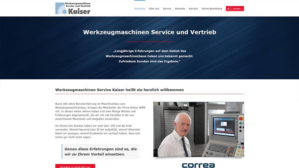 Referenz Webdesign WMS Kaiser