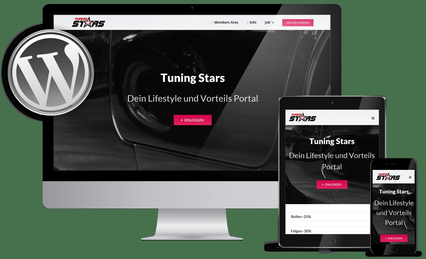 Webdesign Gera Referenzen tuning-stars.de