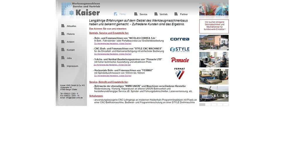 Relaunsch Kaiser WMS before