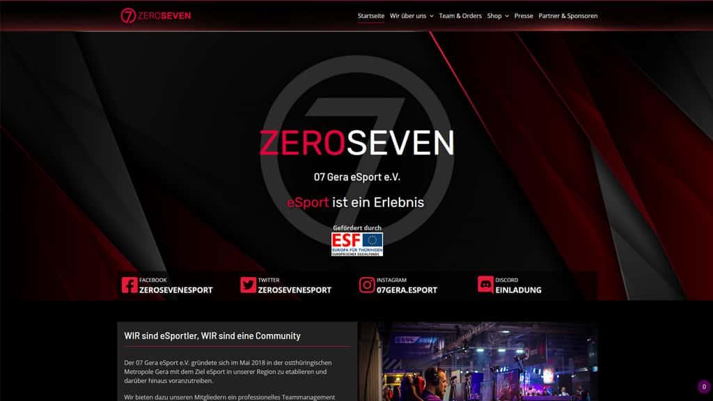 Relaunch Webdesign Referenz Gera eSports