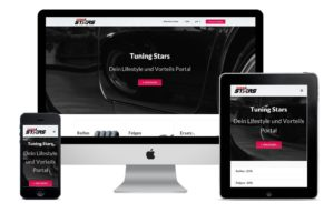 Webdesign für tuning-stars.com