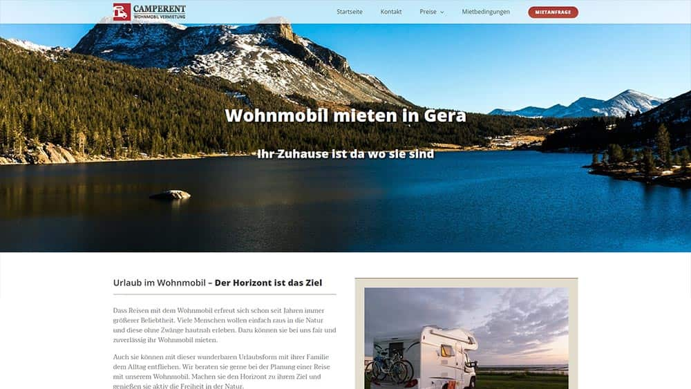 Webdesign Camperent