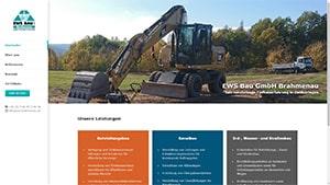 Webdesign EWS BAu GmbH Brahmenau