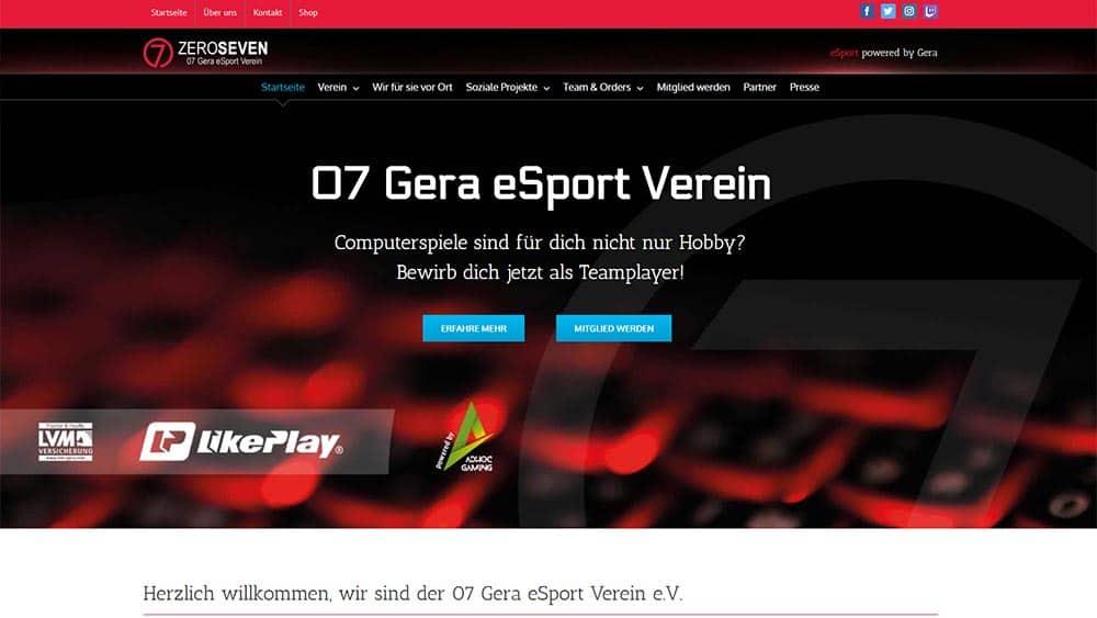 Webdesign Gera eSport