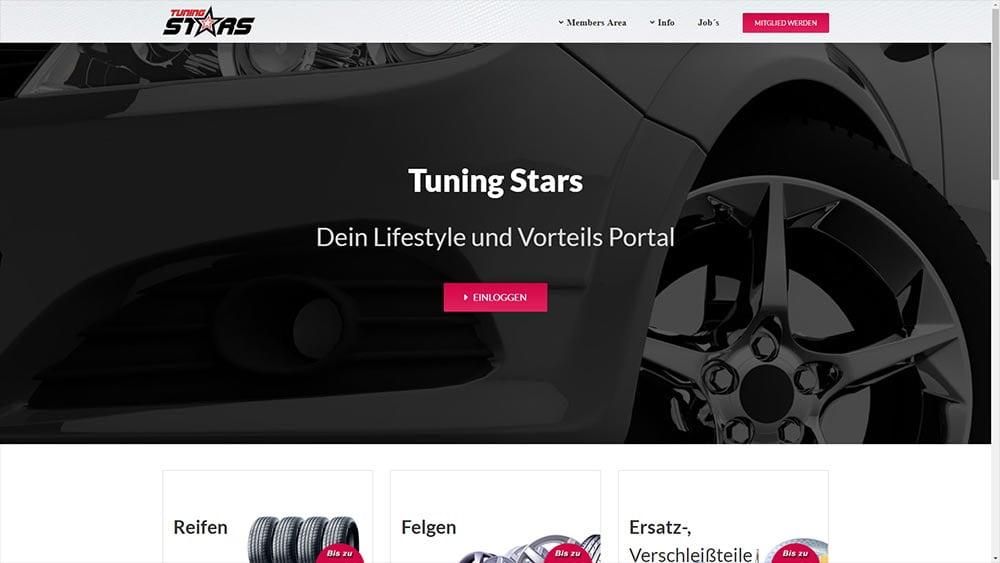 Webdesign Tuning Stars neu